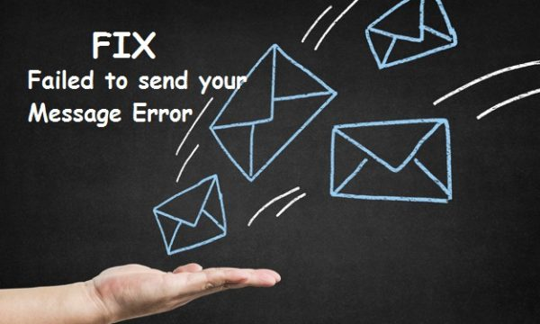 Fix 'Failed to send your message'