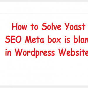 Yoast SEO meta box is blank
