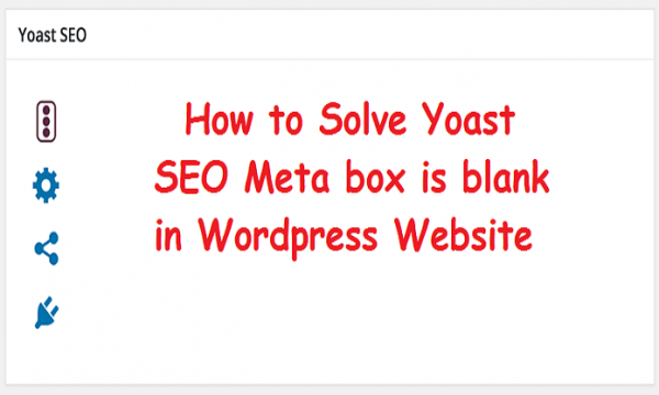 Yoast SEO meta box is blank