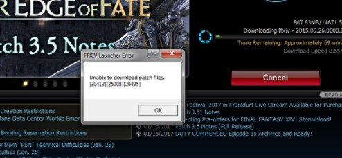 Fix FFXIV Unable to Download Patch Files