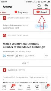 saved draft in quora