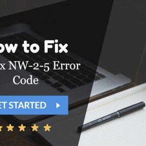 Error Code NW-2-5