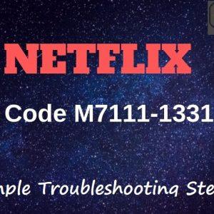 Netflix Error M7111-1331-2206