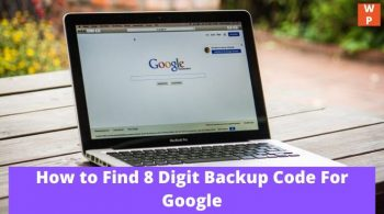 8 Digit Backup Code