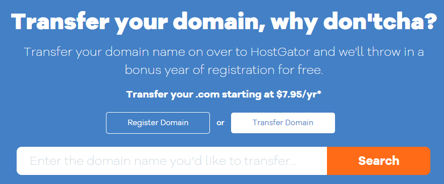 How to transfer a domain in hostgator