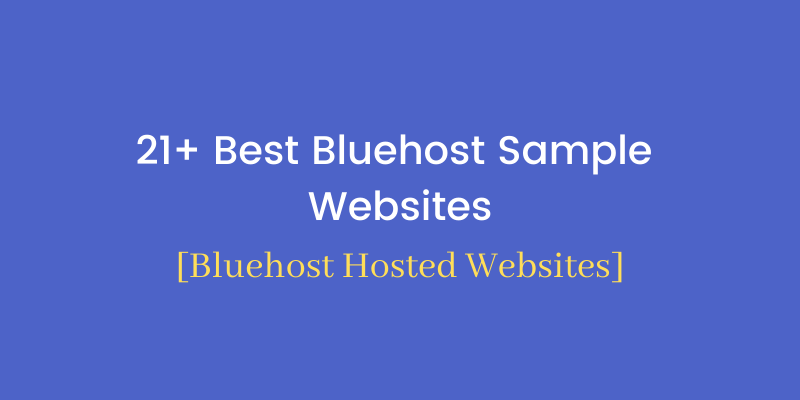 Bluehost example websites