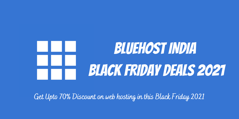 Bluehost India Black Friday 2021