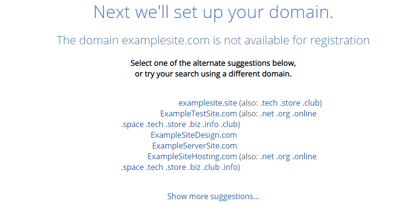 domain with bluehost