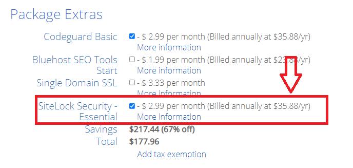 Bluehost sitelock security worth it